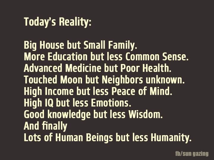 Reality Quotes Fair Let's Change Today's Reality With Humanity And Kindnessquotes
