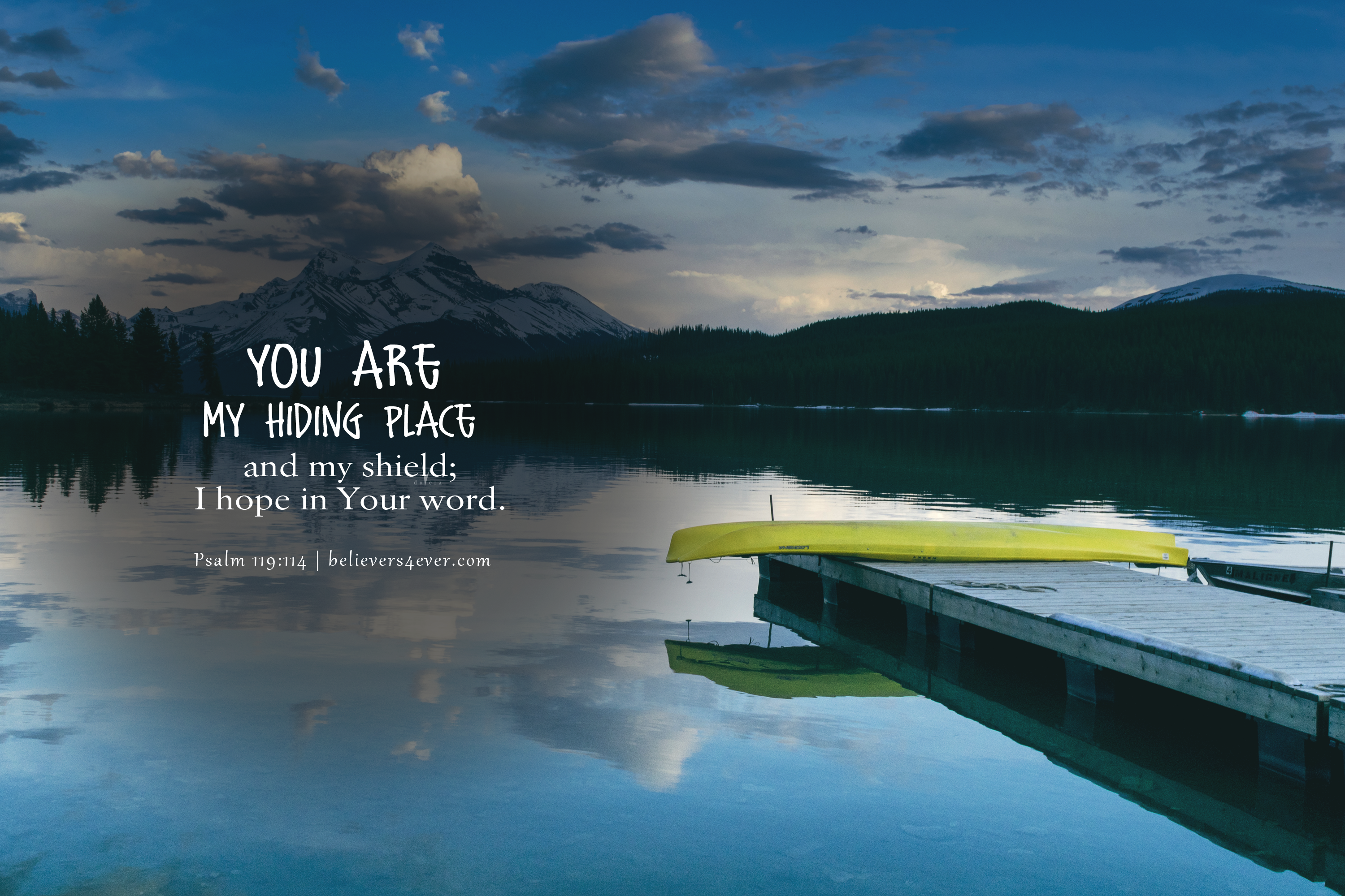 You are my hiding place Bible verse wallpaper, Christian