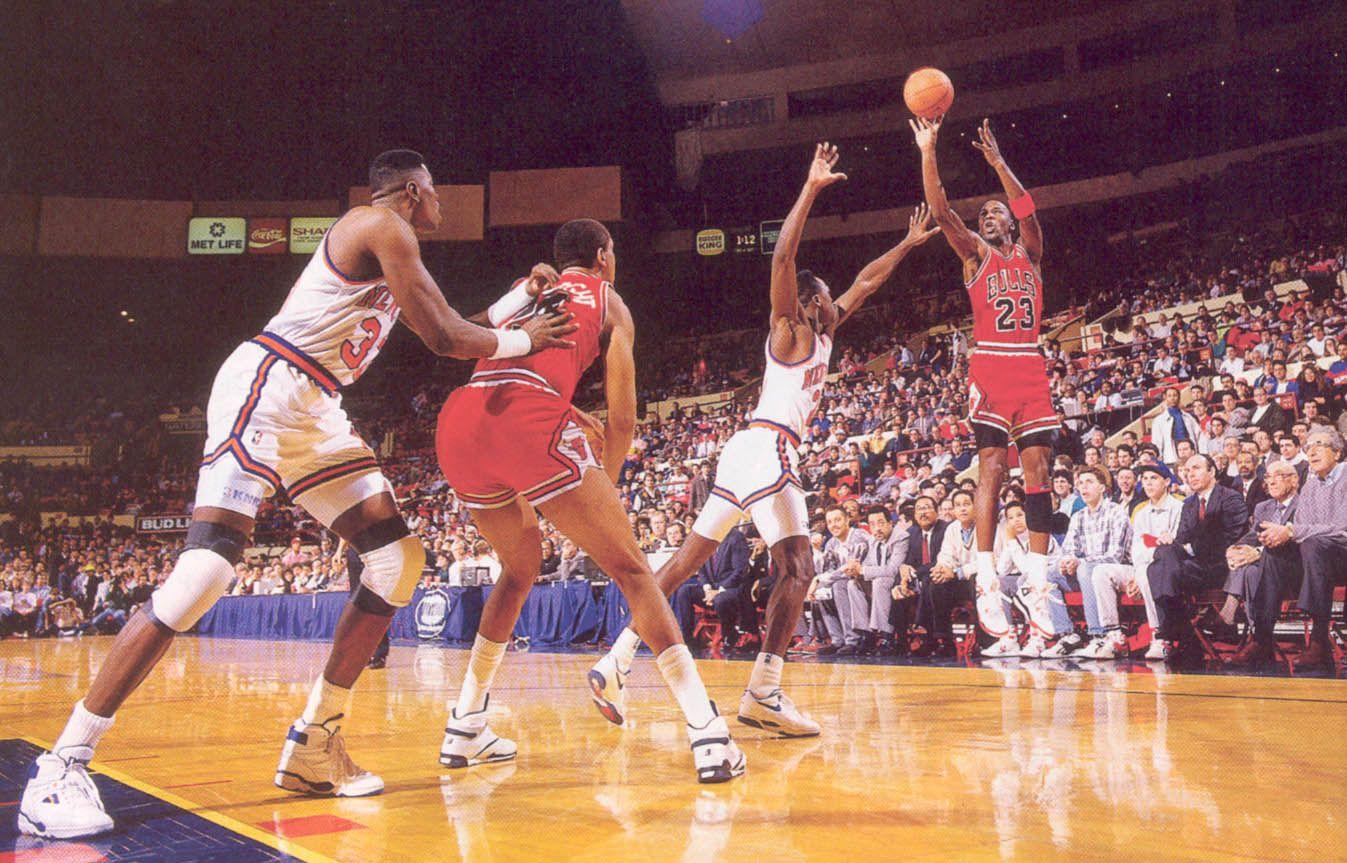 88 89 Knicks Gerald Wilkins Jumper Michael Jordan
