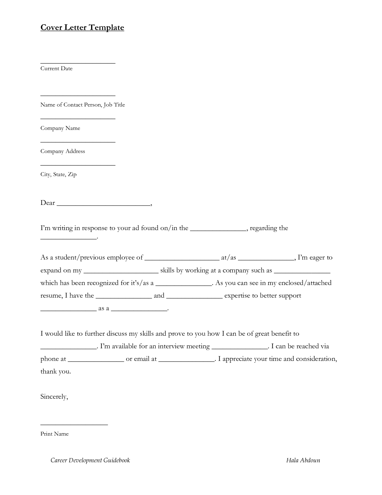 hr cover letter sample  sample cover letter for entry level job