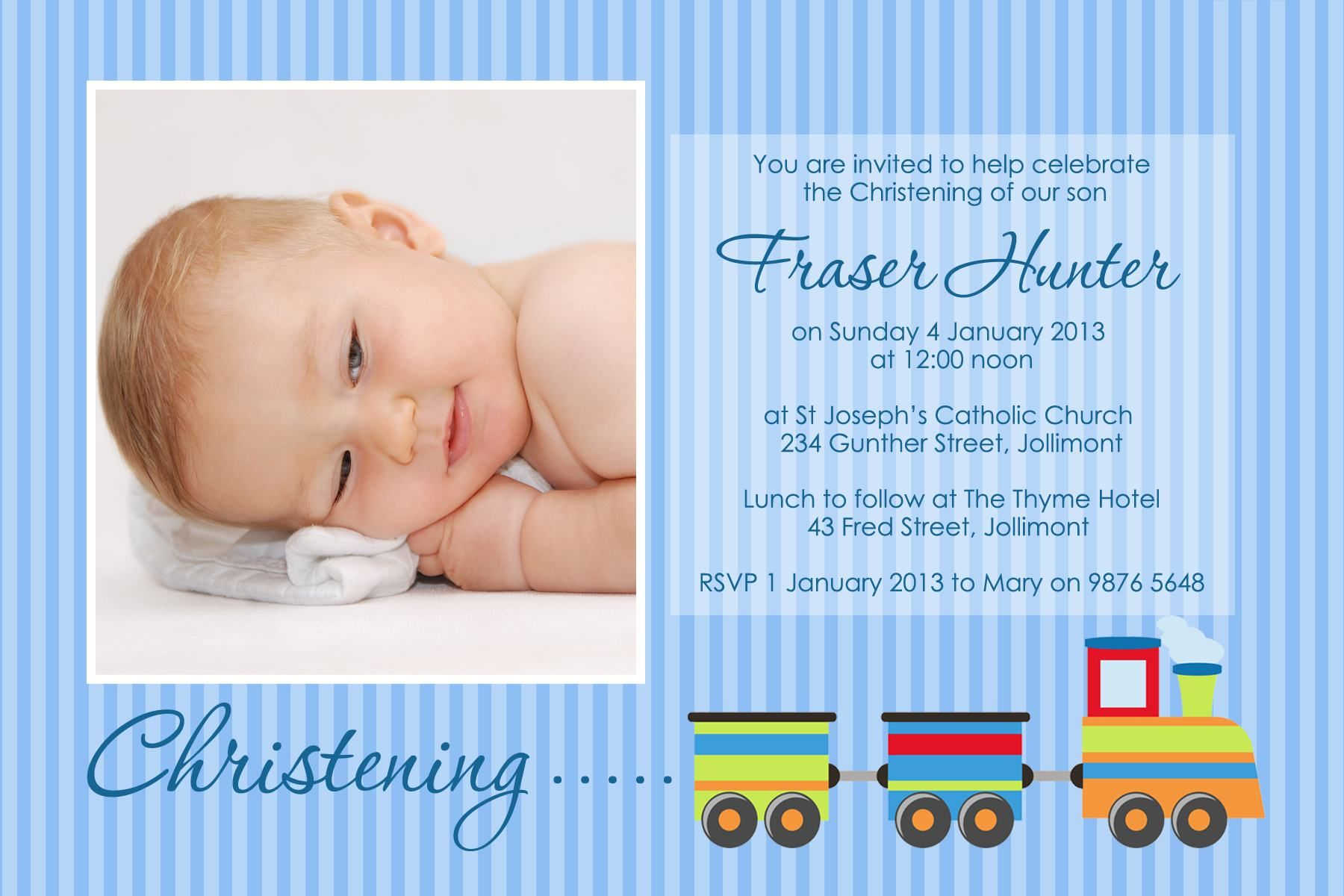 Baptism Invitation Invitation For Christening Layout