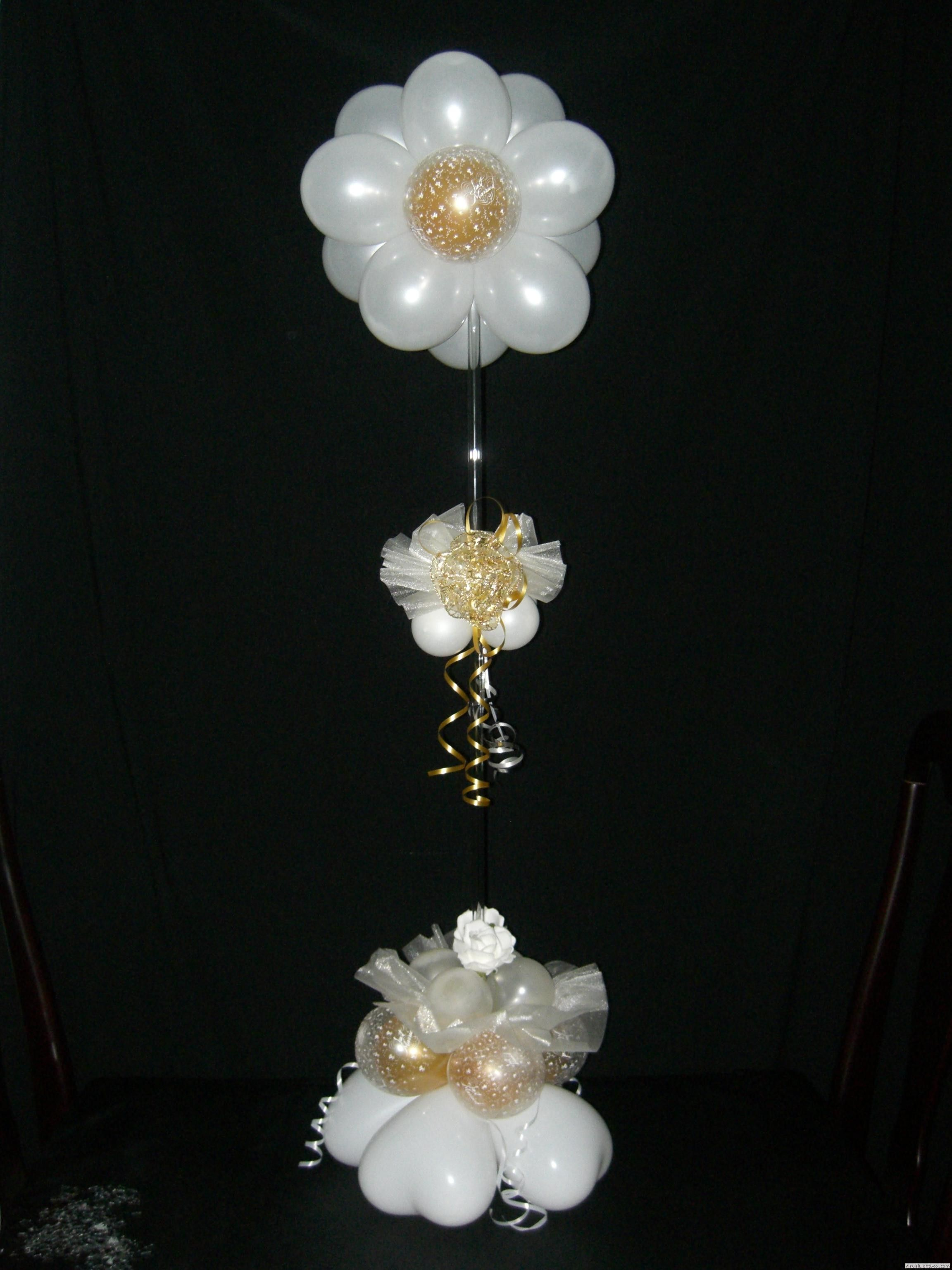 Flower table centerpiece decoracion con globos pinterest