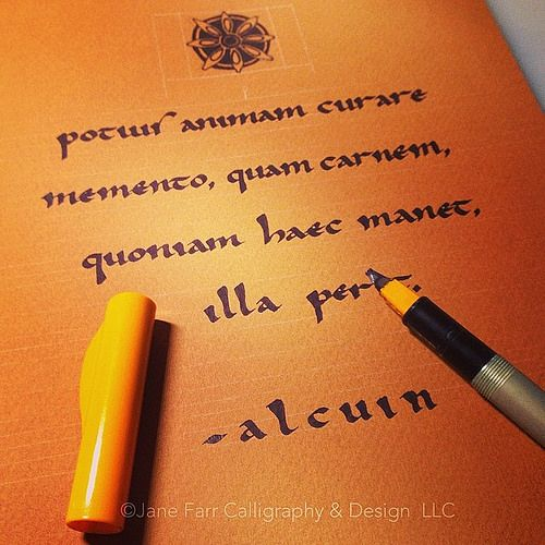 All sizes | Carolingian with 2.4mm Pilot Parallel Pen filled with Higgins Eternal. | Flickr - Photo Sharing!