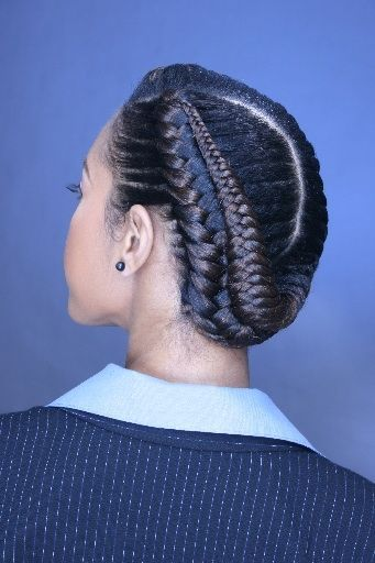 Professional Natural Hairstyle Braided Hairstyles Goddess Braids Hairstyles Braids For Black Hair