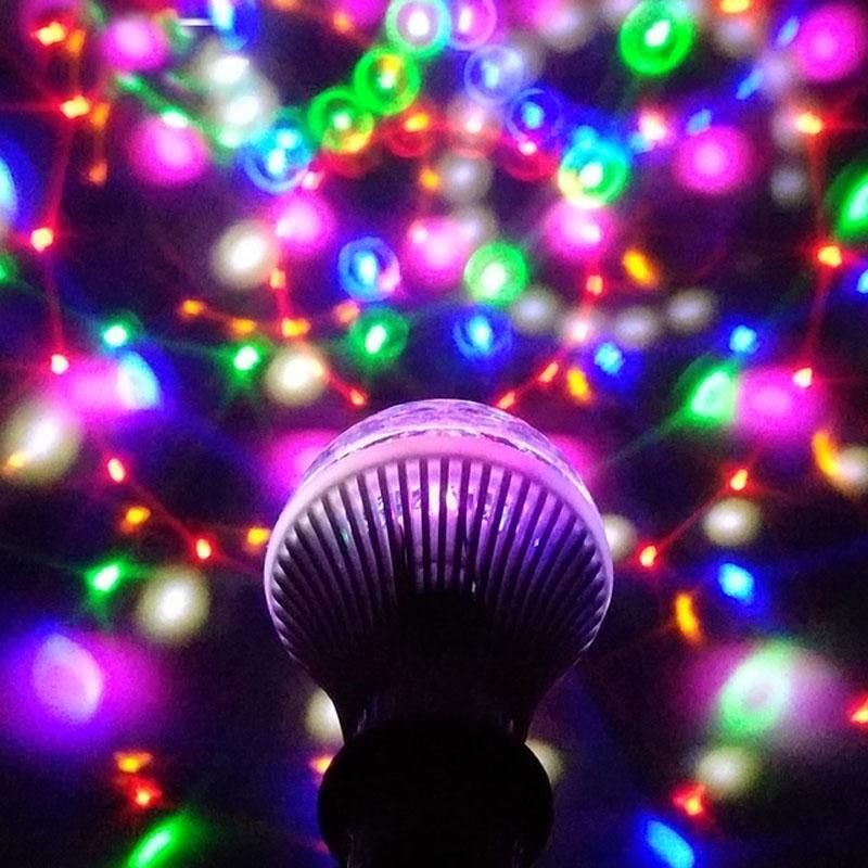 Led Lamp Crystal Stage Light Rgb 6w E27 Colorful Dj Disco Party Ktv Home Effect Bulb Led Light Store Stage Lighting Commercial Lighting