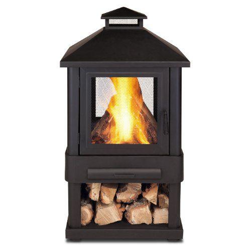 firebowl with wood storage underneath? | Wood burning fire ...