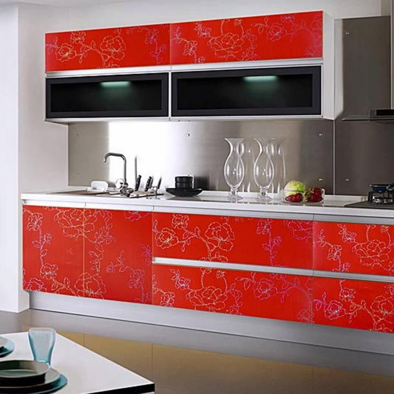 Stickers Waterproof PVC Self Adhesive Wallpaper For Kitchen Cupboard  Countertop Table Wall Stickers Home Decor 60cm