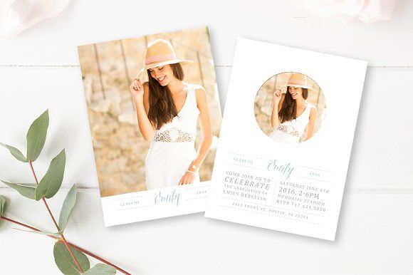 Graduation Announcement  by By Stephanie Design on @creativemarket