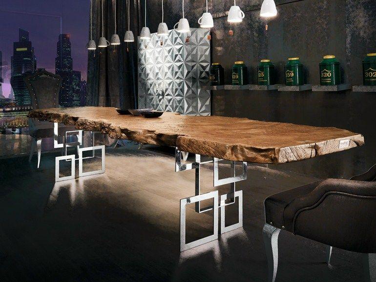 Tavolo Bizzotto ~ Mesa de jantar retangular de madeira coleção sidney by bizzotto