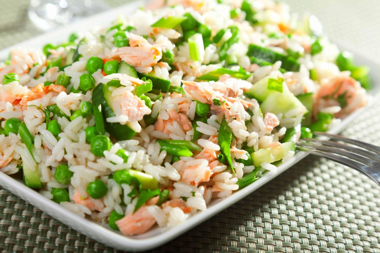 Салаты с рисом рецепты с фото простые