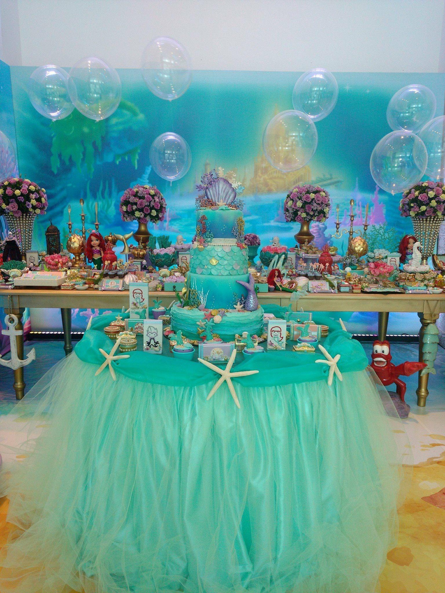 Decoração Sereia Part Ideas Mermaid Theme Birthday Little