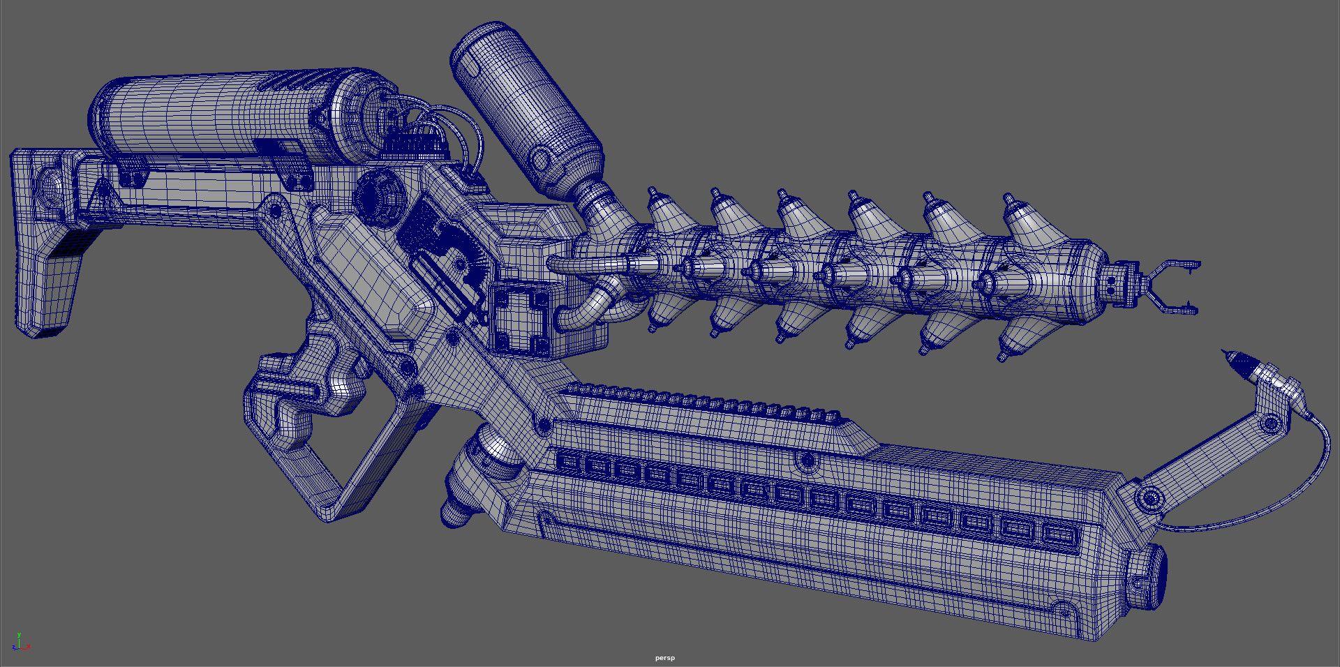 ArtStation - District 9 - Arc Gun, Giovanni Manili