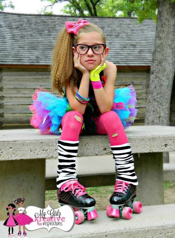Rock and Roller Skate Retro 80u0026#39;s Baby Neon by RockTheJourney | OUTFITS Au00d1OS 80s | Pinterest ...