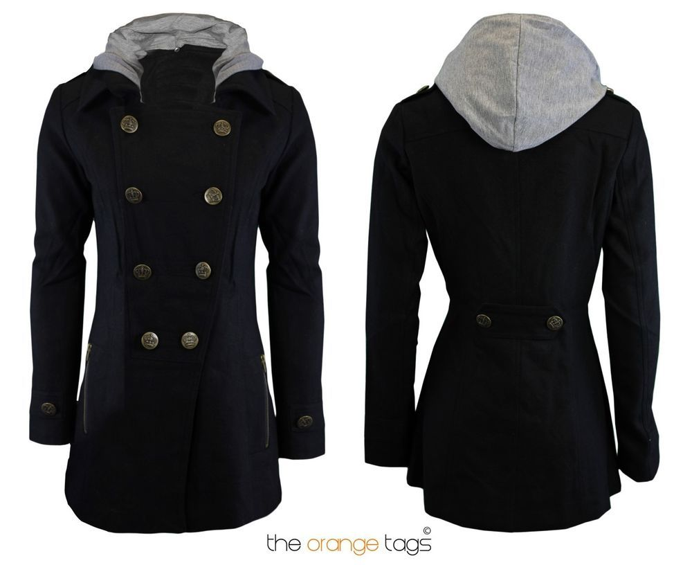 ladies jacket Brave Soul womens trench mac double breasted coat belt winter new