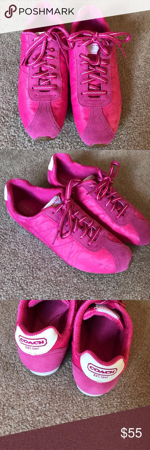 Coach Women's Pink Sneakers Rae F0007