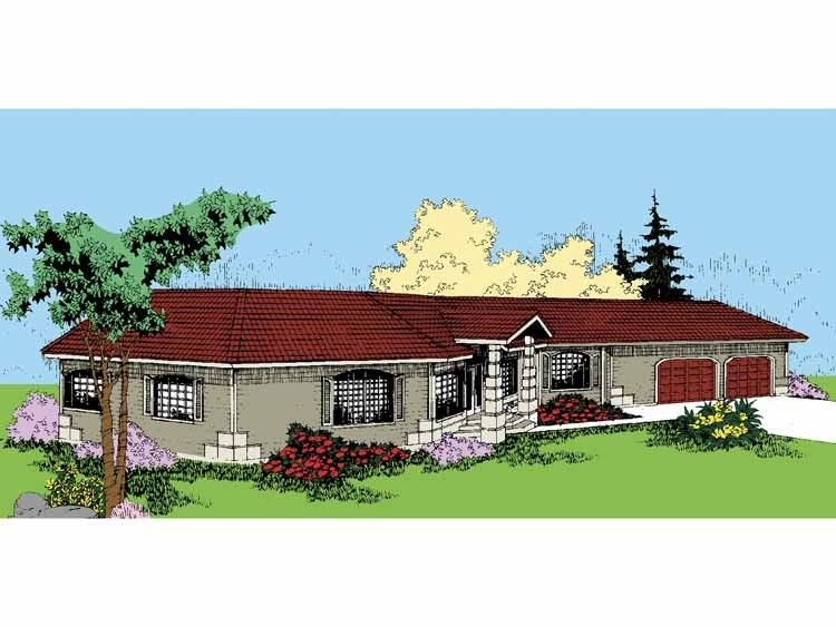 Home Plan HOMEPW17376 - 2698 Square Foot, 4 Bedroom 3 Bathroom
