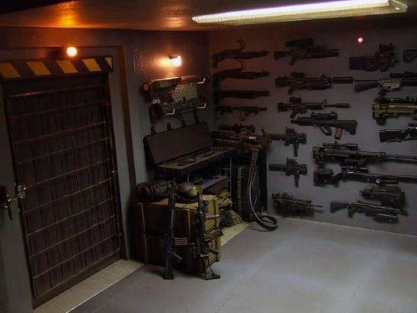 Armory gun room valut cement floors awesome gun rooms for Home gun room