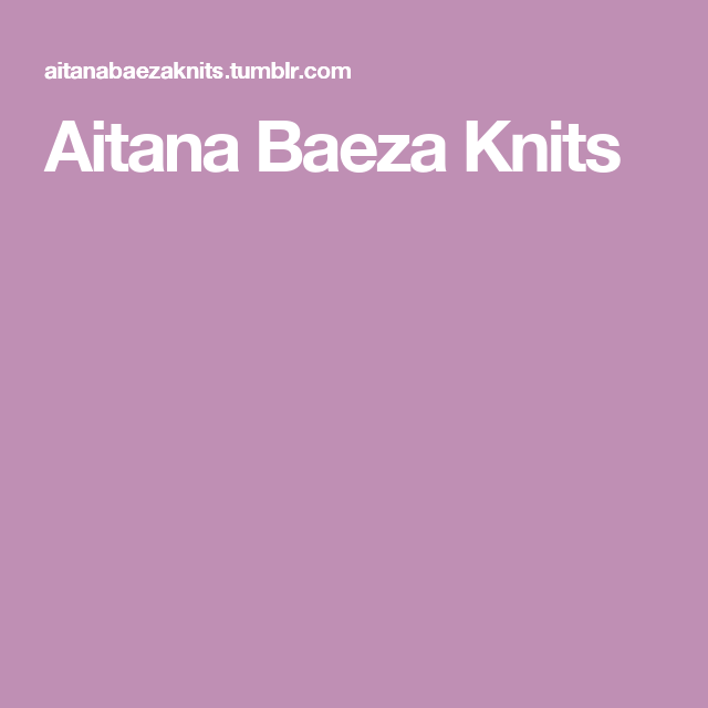 Aitana Baeza Knits