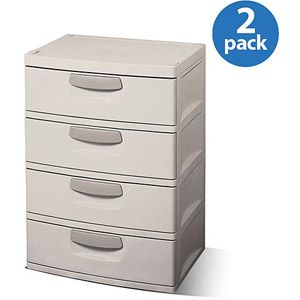 Best Sterilite 4 Drawer Cabinet 2 Pack Sterilite Drawer 400 x 300