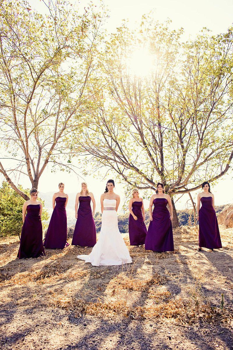 Dark purple wedding dress  Dark Purple bridesmaid dresses  Bridesmaid  Pinterest  Wedding