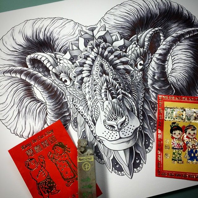 """""""HAPPY CHINESE NEW YEAR!!! Here's another drawing in honor"""