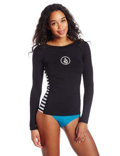 0a9ea75b094b0 Volcom Women's Simply Solid Long Sleeve Rash Guard - List price: $44.00  Price: $39.56 Saving: $4.44 (10%)