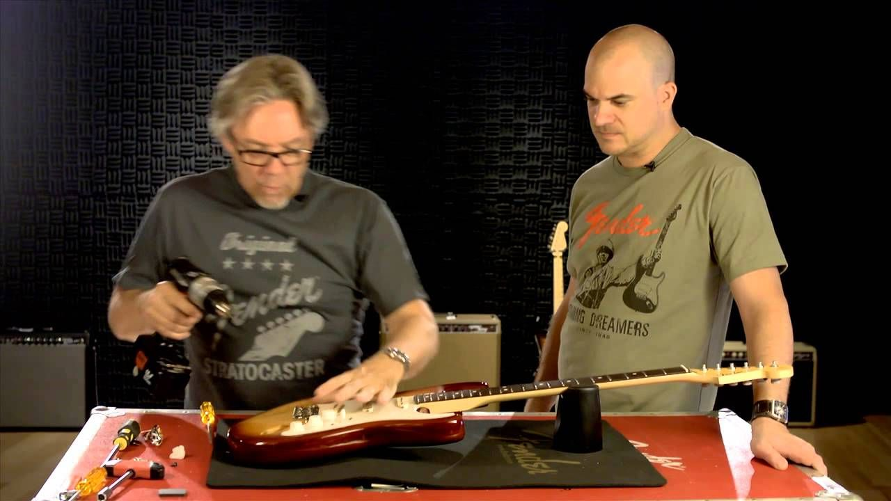 How To Install A New Fender Pickguard And Output Jack Strat Guitar Wiring