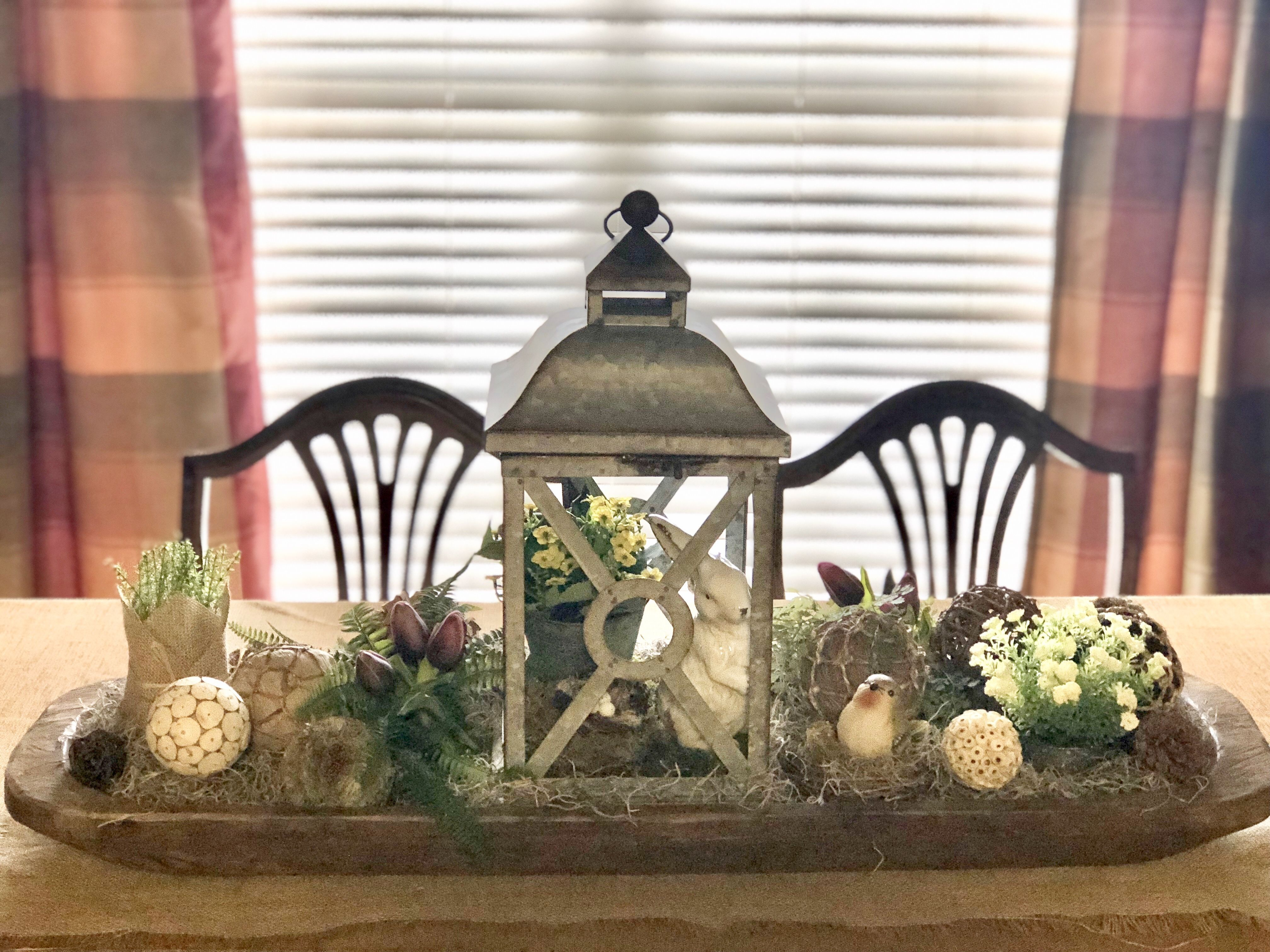 This Doughbowl Arrangement Is The Perfect Centerpiece For This Dining Room Farmhouse Table Centerpieces Dining Room Table Centerpieces Dining Table Centerpiece