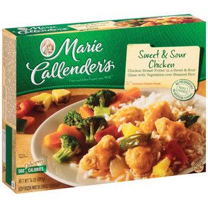Marie Callenders Frozen Dinner Sweet Sour Chicken 14 Ounce Walmart Com Sweet Sour Chicken Chicken Dinner Frozen Chicken