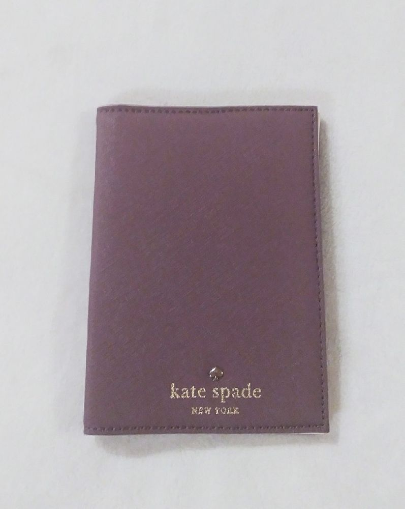 8152cc30b9e9 Kate Spade Mikas Pond Leather Wallet Passport Holder Cover Dusk ...