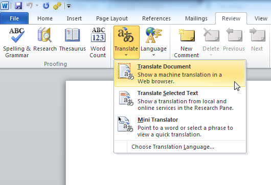 4 Great Ways To Translate An Entire Document Online Thesaurus Words Language Translation Online