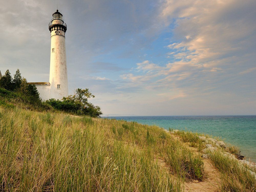 Climb the sand bluffs at Sleeping Bear Dunes for the ultimate view of Lake Michigan.