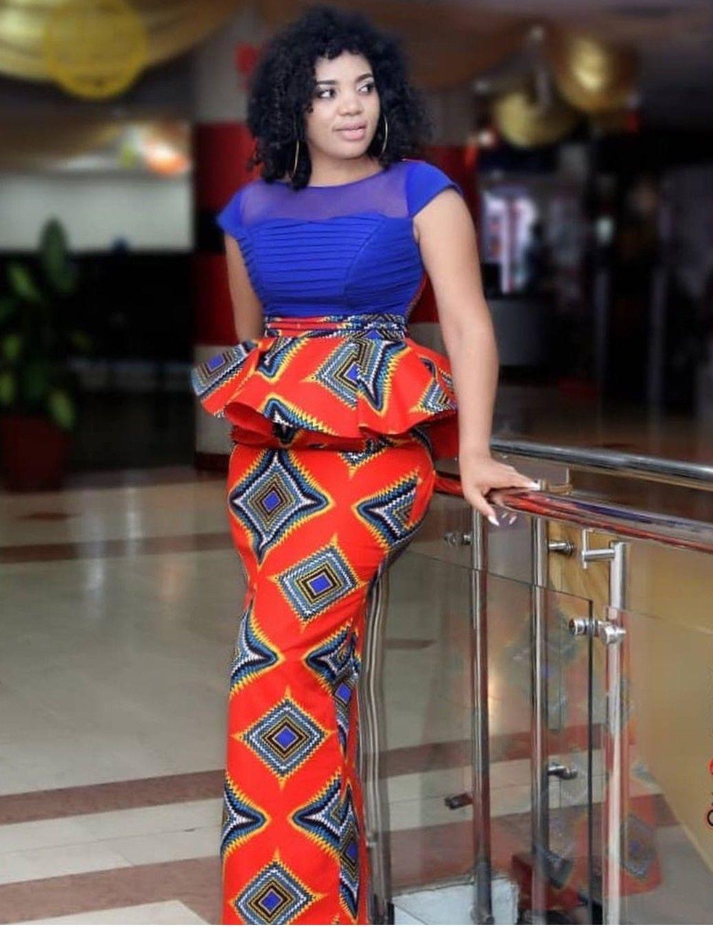 Ensemble pagne | African fashion skirts,