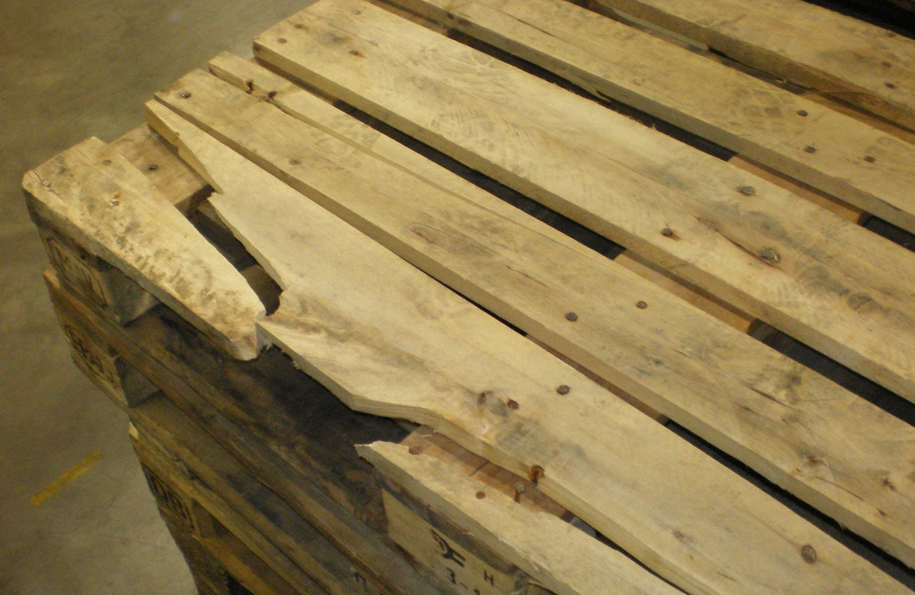 Wooden shipping pallets are really popular these days as a