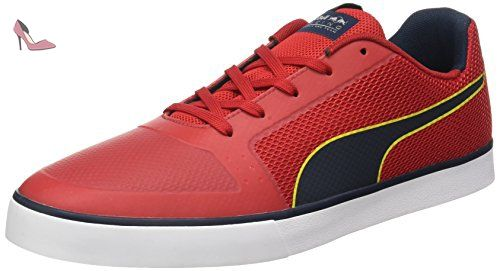Puma RBR Wings Vulc, Sneakers Basses Mixte Adulte, (Total Eclipse-White-Chinese Red), 39 EU