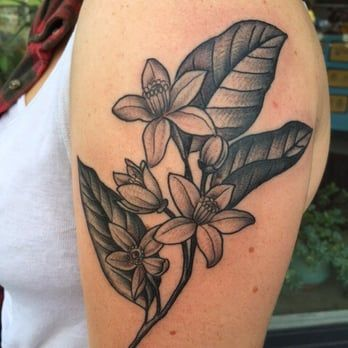 Orange Blossoms By Hannah Wednesday Tattoos Picture Tattoos Tattoos For Guys