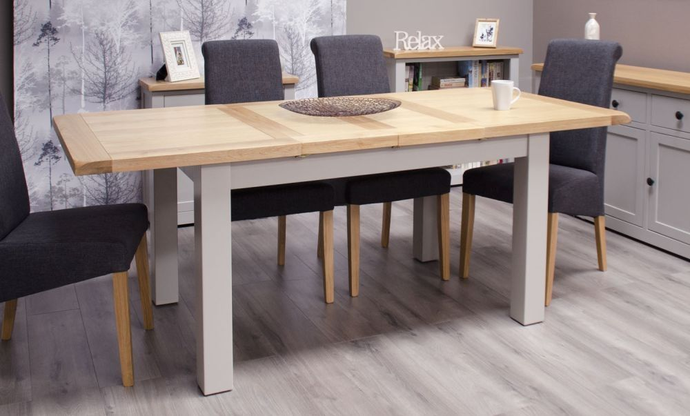 Homestyle Gb Diamond Painted Large Extending Dining Set With 4