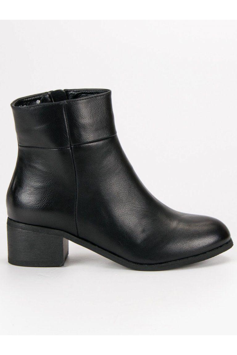 5f381188b1 Klasické čierne topánky na podpätku Small Swan