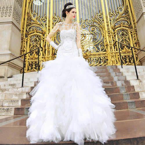 Vintage Wedding Dresses Canada: Gorgeous Floor Lenght Beaded Mermaid 1980s Wedding Dresses