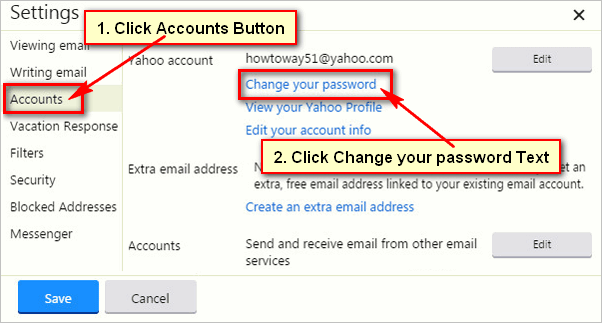 Pin by Howtoway on Yahoo Mail | Change your password, You