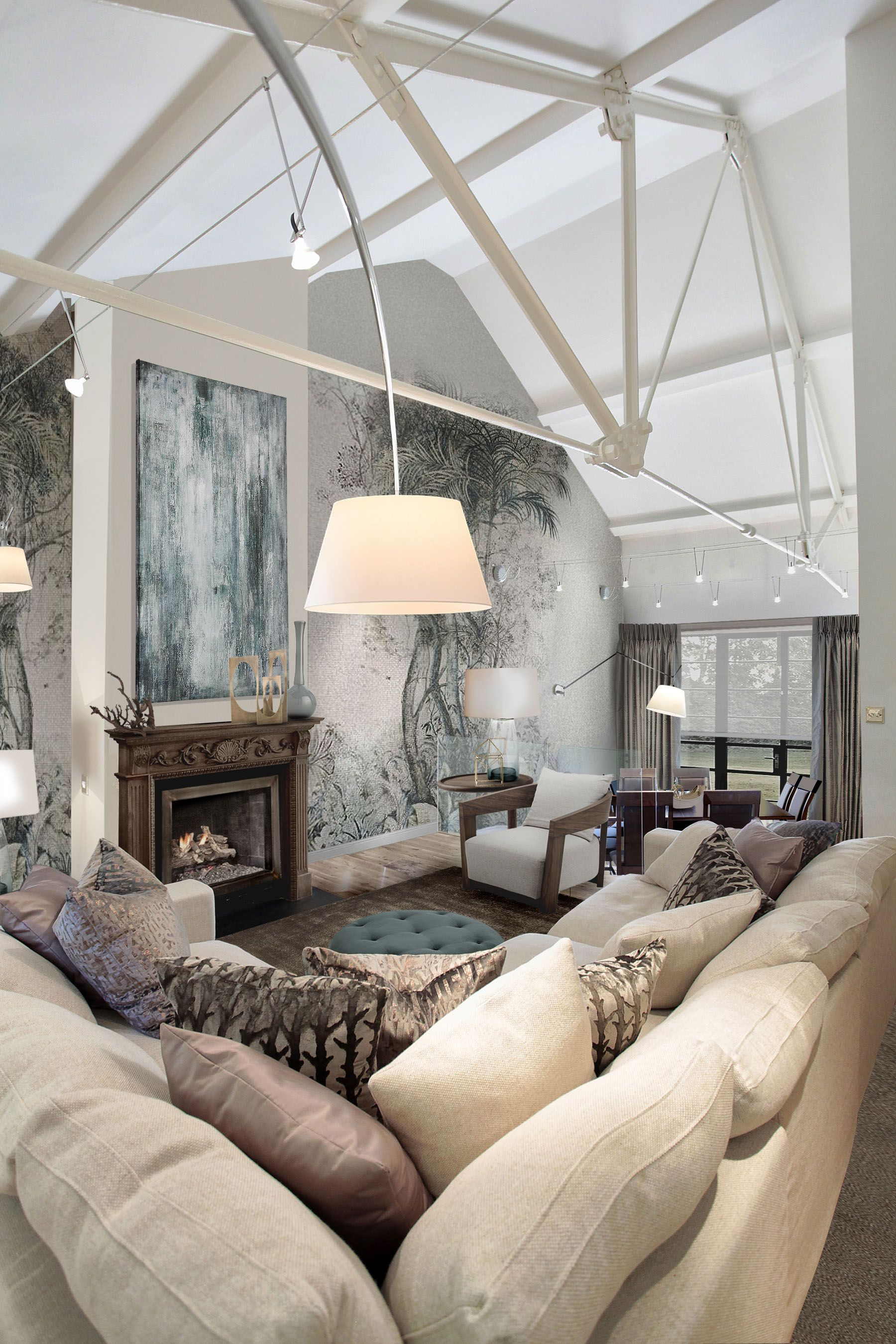 Living room. New Forest project. Interior design ...