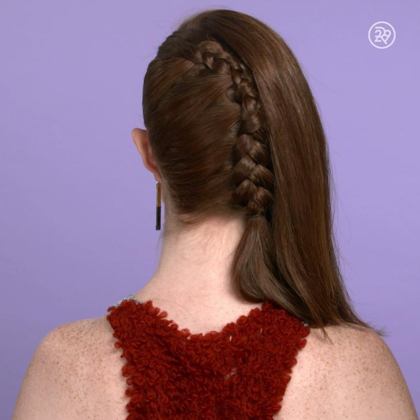a onesided french braid video hair hair styles long