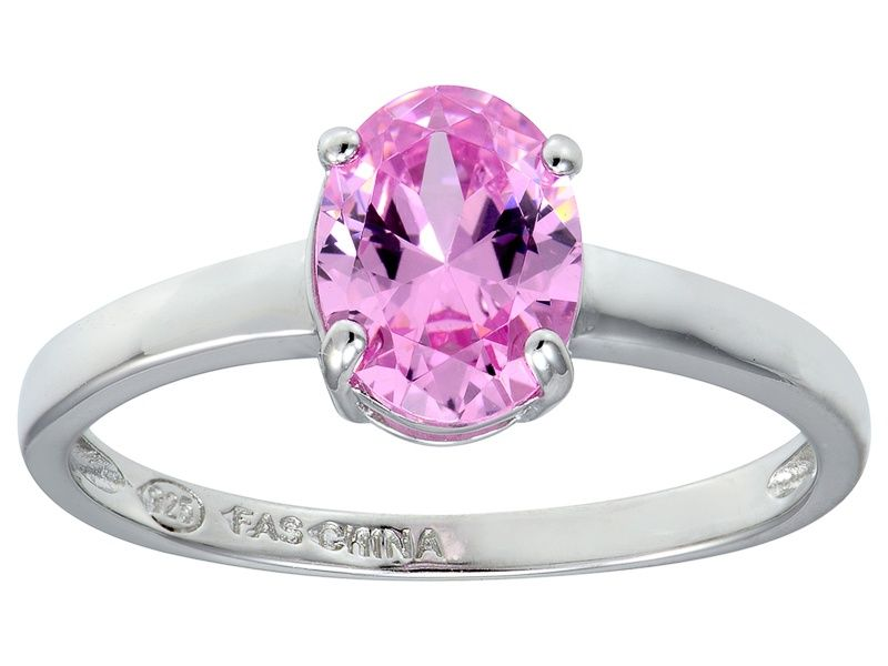 a0a4bda4f Bella Luce® 2.06ct Oval Pink Diamond Simulant Rhodium Silver Solitaire Ring