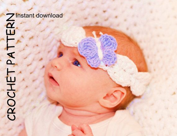 Crochet Headband Pattern Baby Headband Pattern Girls Headband
