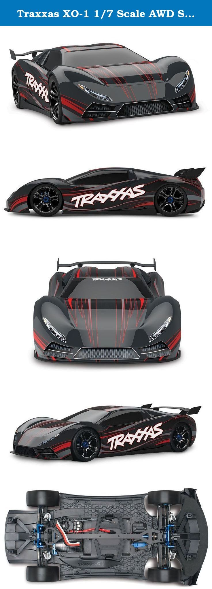 Traxxas Xo 1 1 7 Scale Awd Supercar With Tqi 2 4ghz Radio Tsm Black For 25 Years Traxxas Has Pushed The Boundaries To Find The Next Super Cars Awd Traxxas