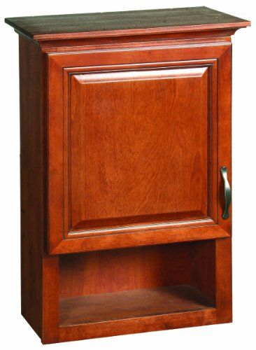 Design House 538587 2375inch By 10 38inch Montclair Fully Embled 1 Door1 Open Shelf Bathroom Wall Cabinet Chestnut For More Information