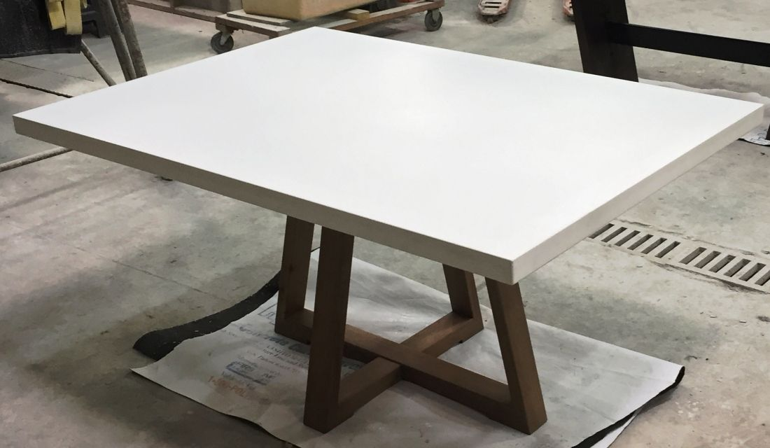 Tables Bases Stools Creative Concrete Furniture Fabrication And Production Dining Table