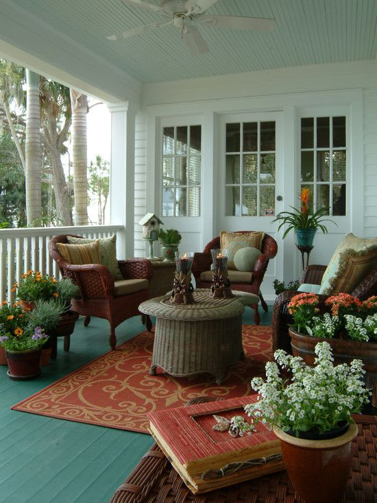 Old Florida River House - eclectic - porch - other metro - Island ...