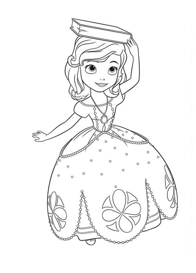 Sofia The First Coloring Pages Pdf Printable Anak
