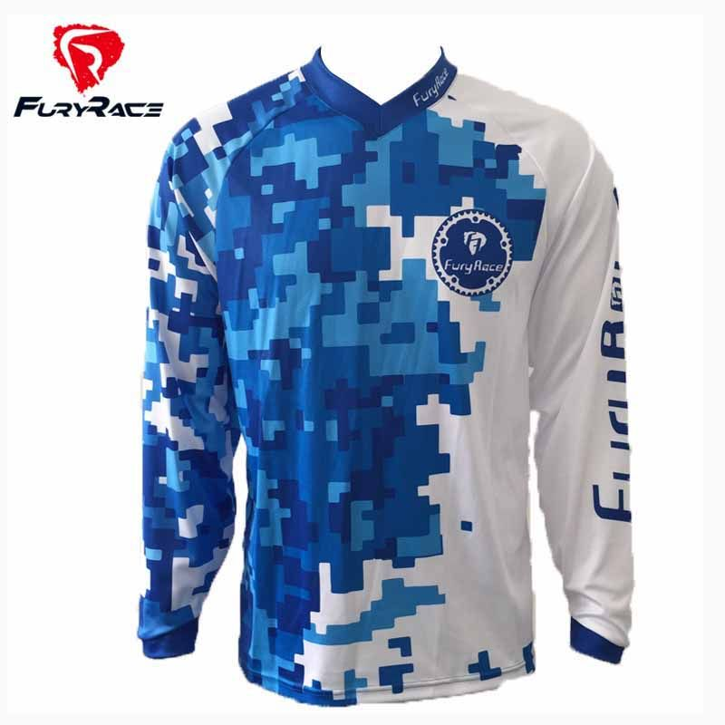 Fury Race New Men MTB MX DH Mountain Bike Jersey Downhill Jerseys Motocross  Motorcycle Bicycle Cycling Shirts Jerseys Clothing 1f67754ef